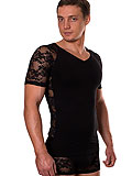 DOREANSE Lace-sleeves T-Shirt